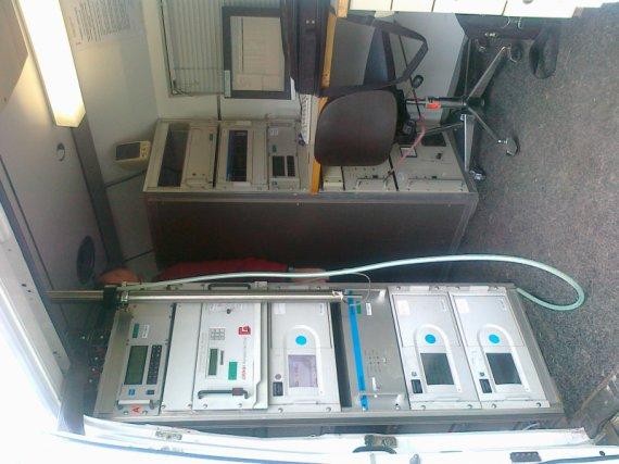 Fotografie příslušenství měřícího vozu
